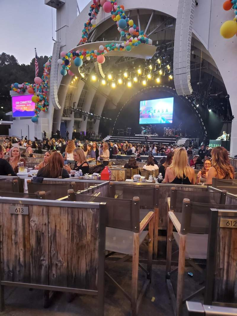 Seating view for Hollywood Bowl Section Garden Box 711 Row 1 Seat 1-4