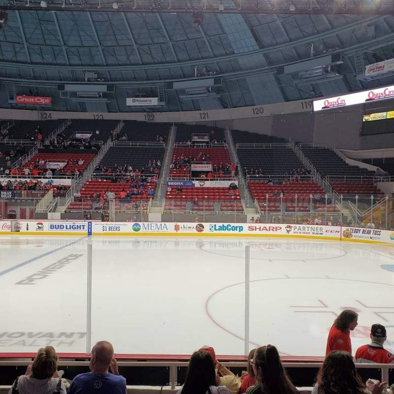 Seating view for Bojangles' Coliseum Section 110 Row F Seat 10