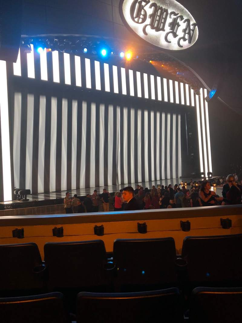 Seating view for Zappos Theater Section 104 Row D Seat 15