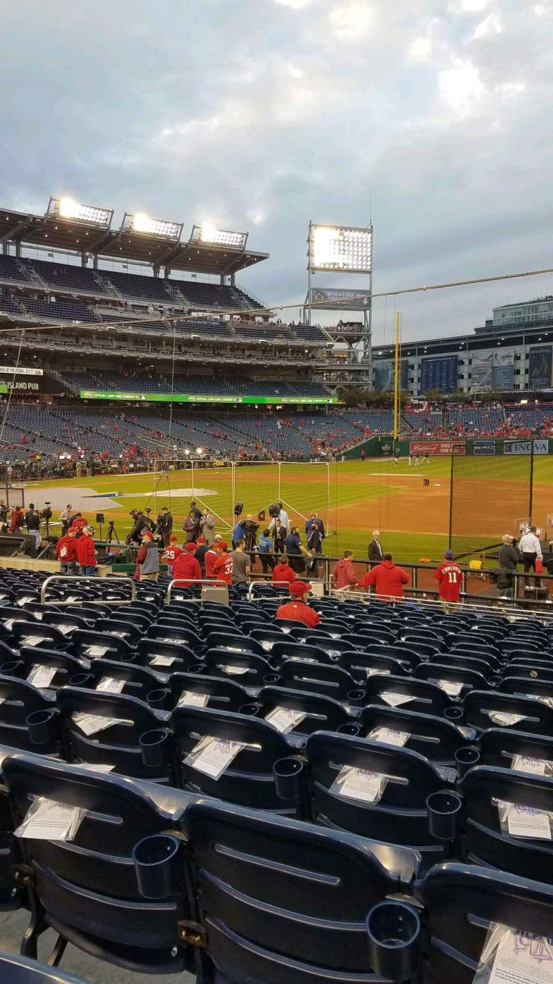 Seating view for Nationals Park Section 131 Row W Seat 5