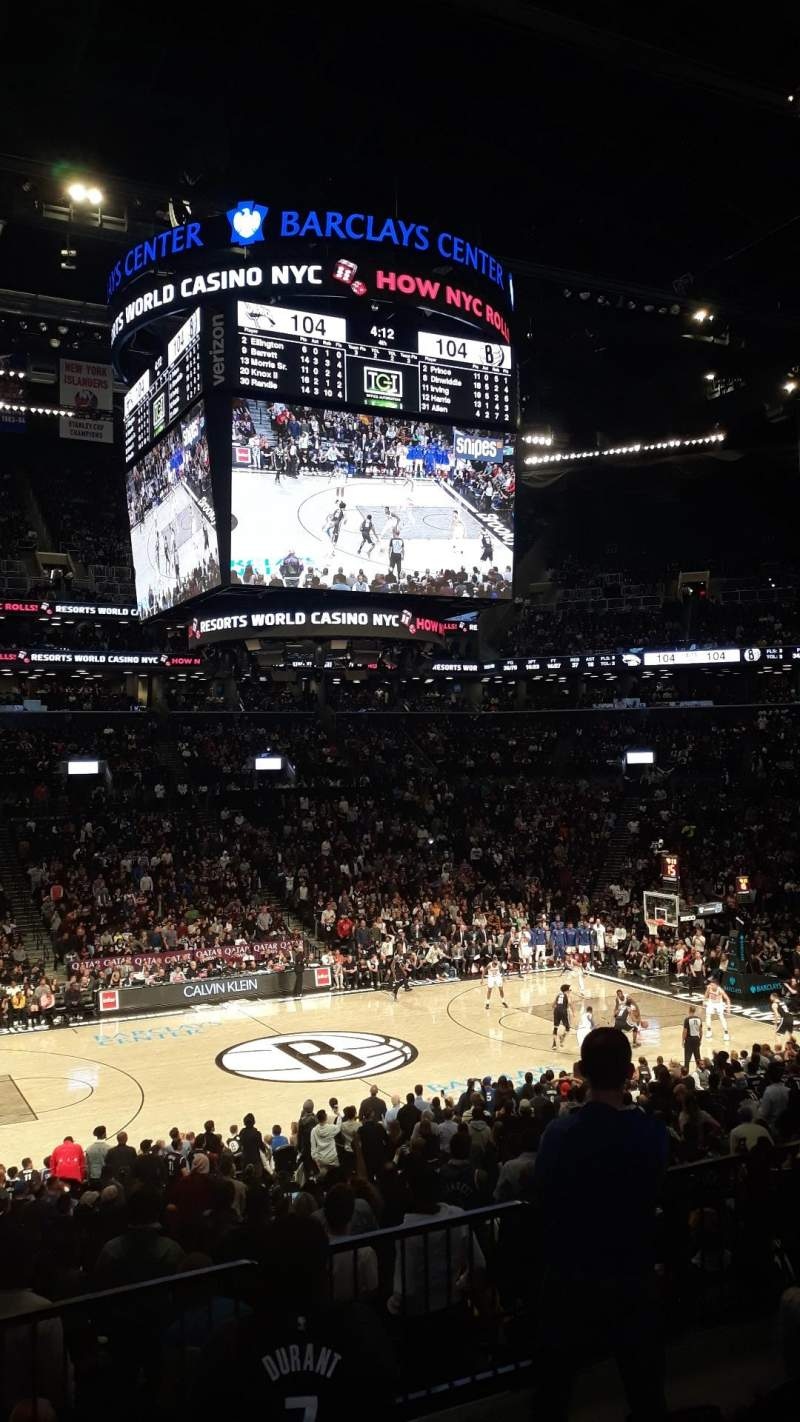 Seating view for Barclays Center Section 125 Row 4 Seat 8