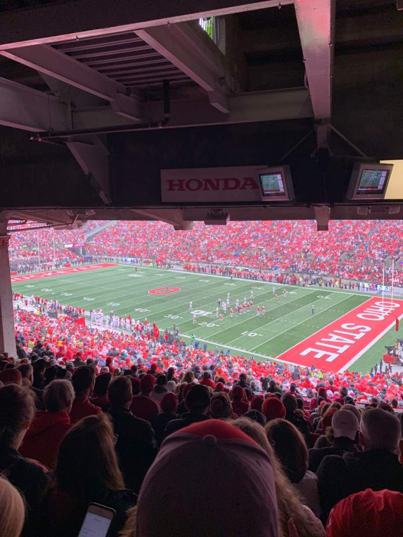 Seating view for Ohio Stadium Section 12B Row 14 Seat 3