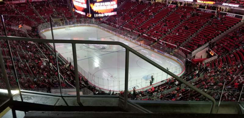 Seating view for PNC Arena Section 335 Row D Seat 14