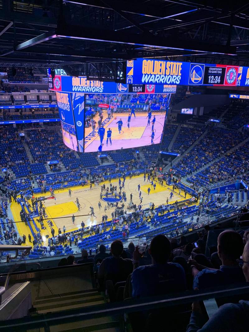 Seating view for Chase Center Section 208 Row 14 Seat 19