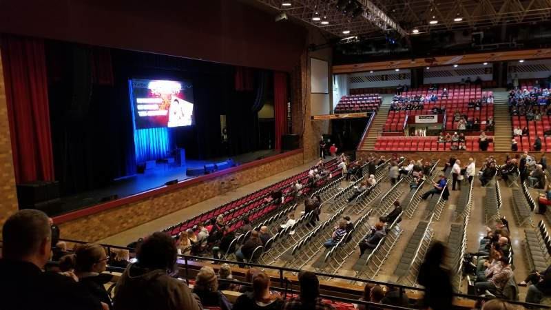 Seating view for Canton Civic Center Section 16 Row L Seat 2
