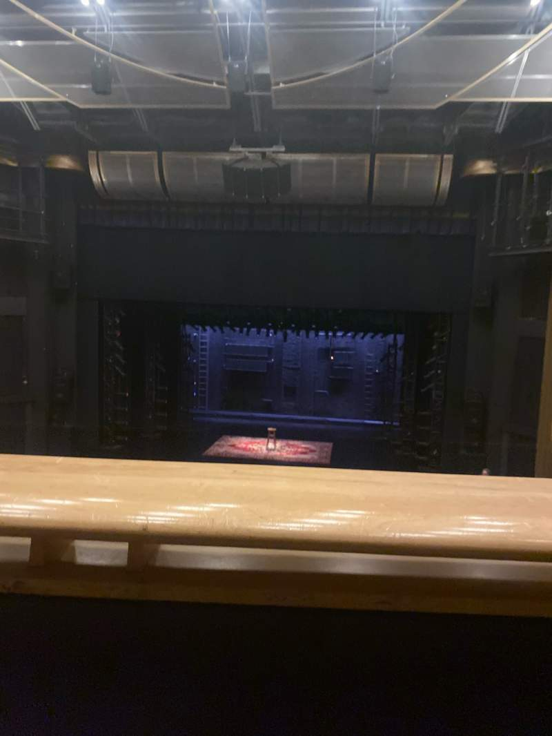 Seating view for Ahmanson Theatre Section Mezzanine Row A Seat 19