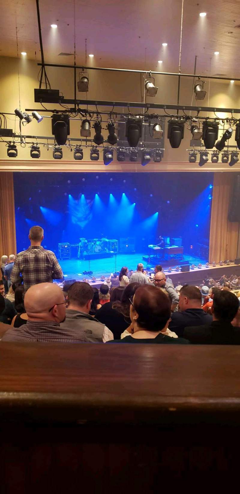 Seating view for Ryman Auditorium Section Bal-14 Row P Seat 2