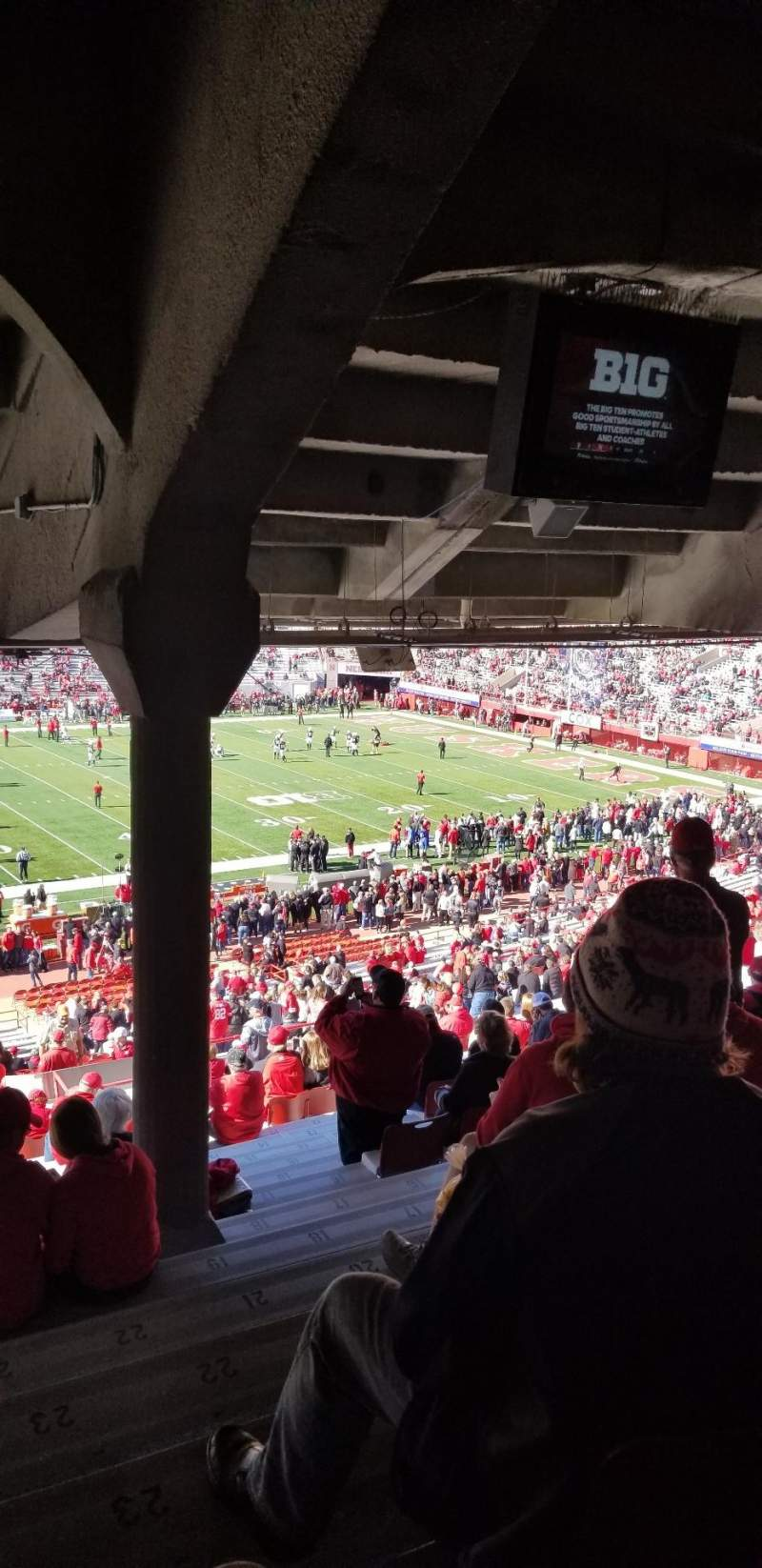 Seating view for Memorial Stadium (Lincoln) Section 7 Row 44 Seat 23