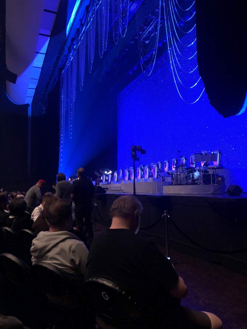 Seating view for Park Theater at Park MGM Section 101 Row J Seat 56
