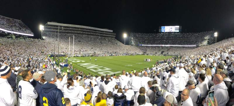 Seating view for Beaver Stadium Section NB Row 23 Seat 15