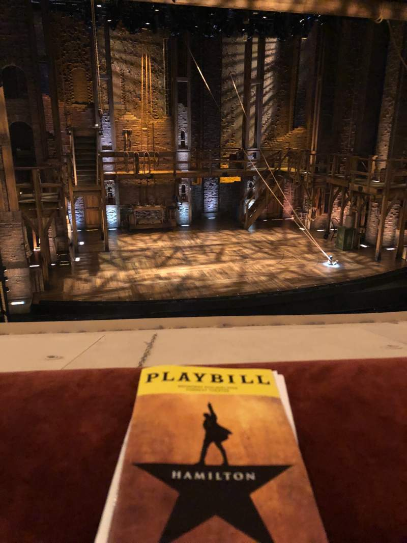 Seating view for Forrest Theatre Section Front Mezzanine B Row A Seat 1