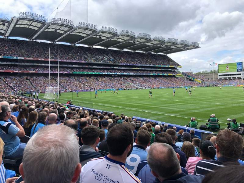 Seating view for Croke Park Section z Row F Seat 33