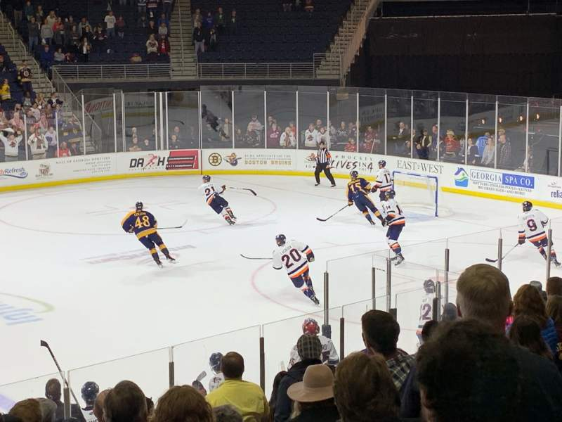 Seating view for Infinite Energy Arena Section 105 Row M Seat 18