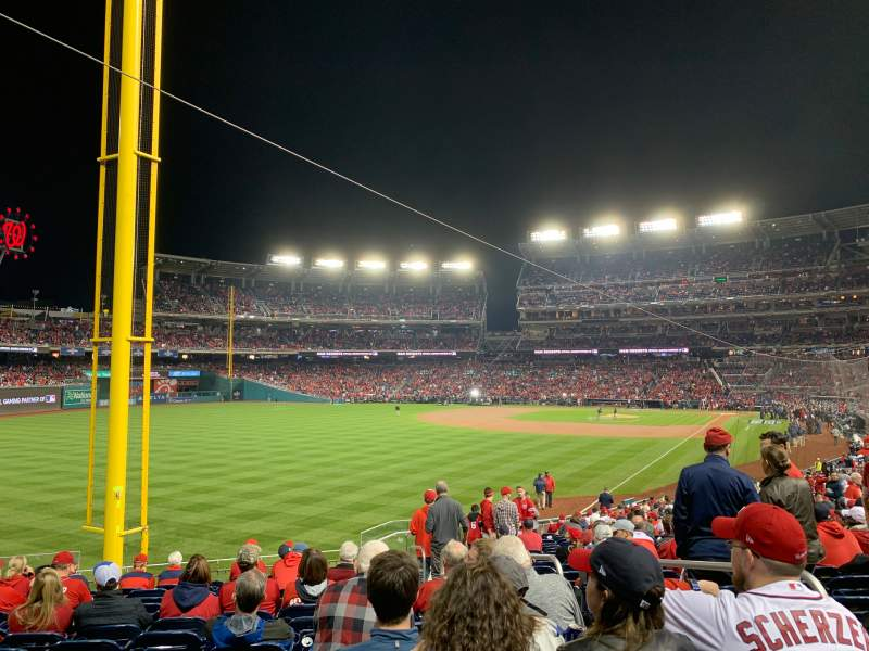 Seating view for Nationals Park Section 107 Row KK Seat 4