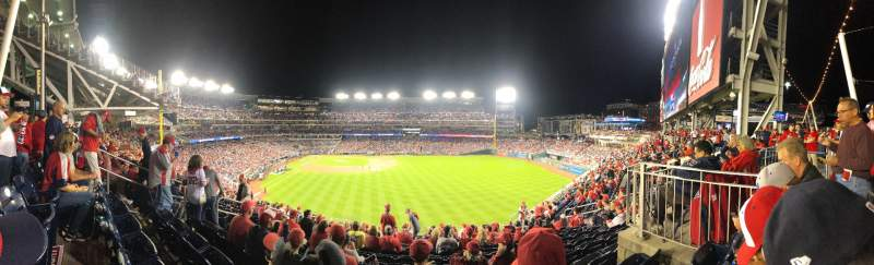Seating view for Nationals Park Section 239 Row P Seat 16