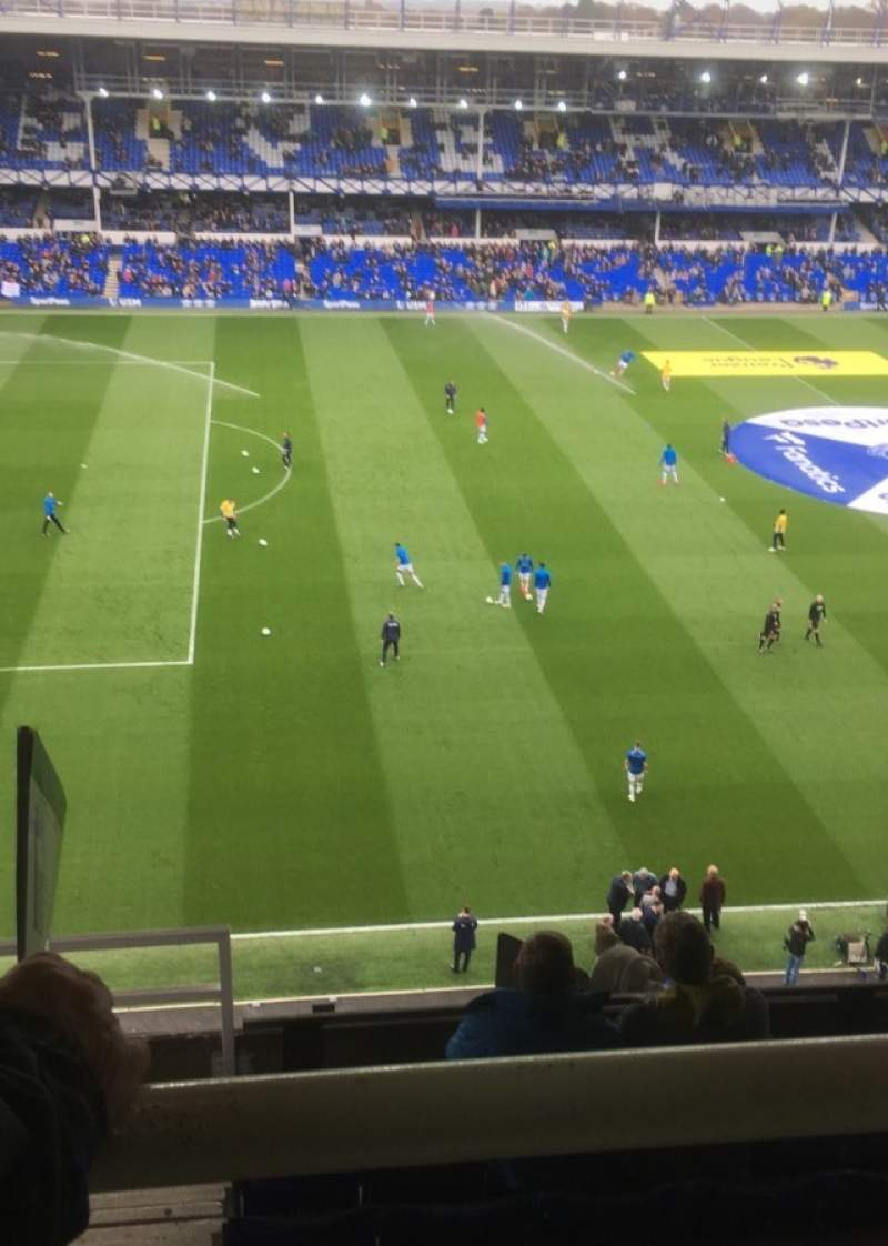 Seating view for Goodison Park Section Top Balcony 1 Row K Seat 3