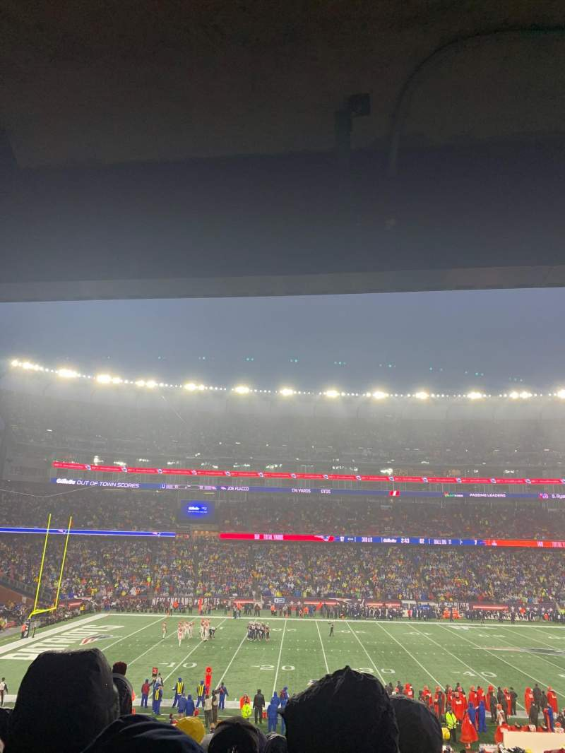 Seating view for Gillette Stadium Section 134 Row 35 Seat 1