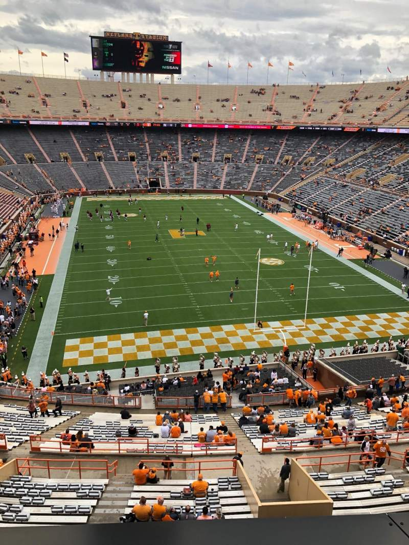 Seating view for Neyland Stadium Section YY9 Row 1 Seat 17
