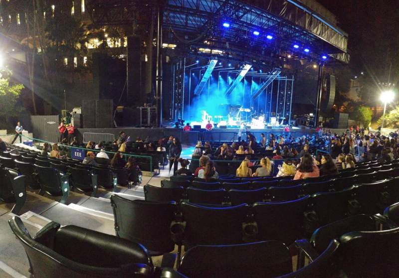 Seating view for Cal Coast Credit Union Open Air Theatre Section CC Row H Seat 21