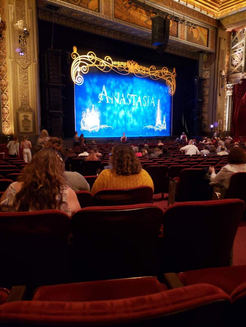 Seating view for Hollywood Pantages Theatre Section Orchestra L Row W Seat 7