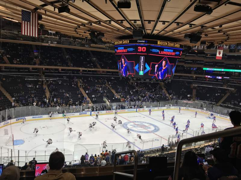 Seating view for Madison Square Garden Section 221 Row 5 Seat 21