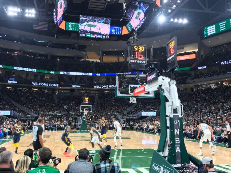 Seating view for Fiserv Forum Section 111 Row 3 Seat 19