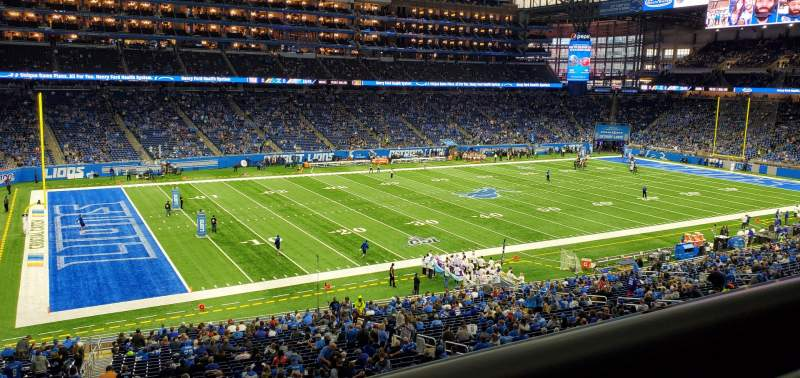 Seating view for Ford Field Section 226 Row 1 Seat 24