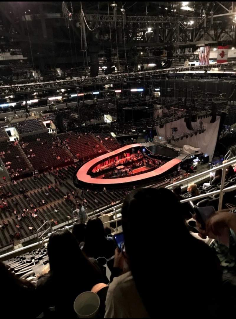Seating view for Staples Center Section 303 Row 13 Seat 5,6