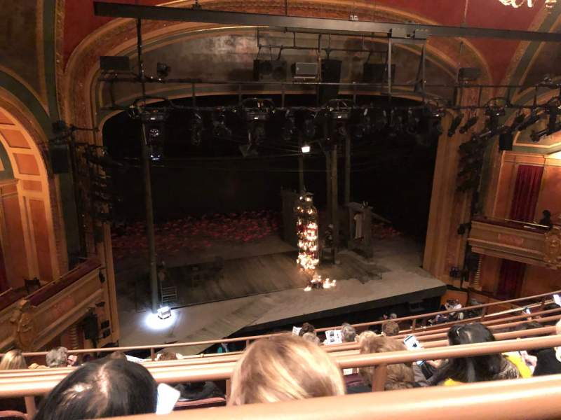 Seating view for American Airlines Theatre Section Rear mezzanine Row F Seat 126