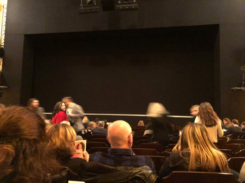 Seating view for Bernard B. Jacobs Theatre Section Orchestra C Row K Seat 104