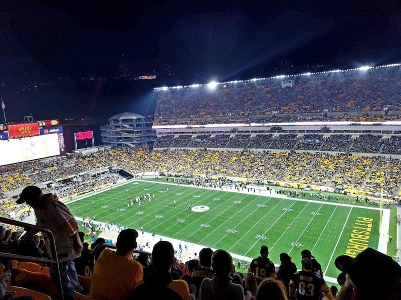 Seating view for Heinz Field Section 515 Row Y Seat 25