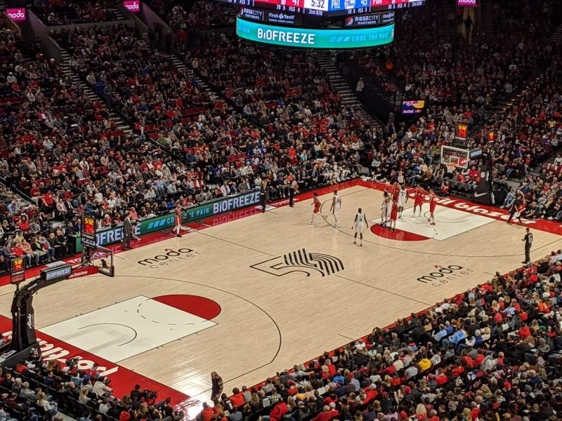 Seating view for Moda Center Section 322 Row E Seat 10