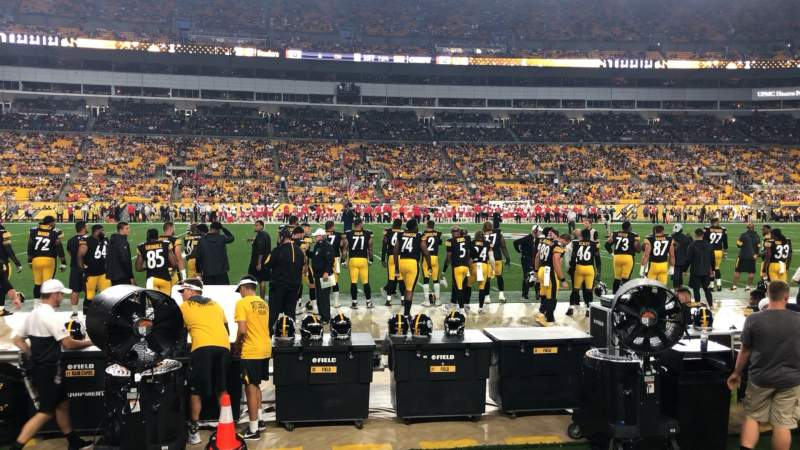 Seating view for Heinz Field Section 133 Row A Seat 1