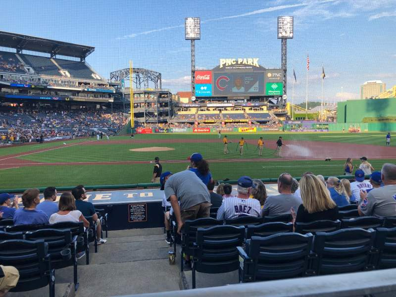 Seating view for PNC Park Section 112 Row A Seat 4