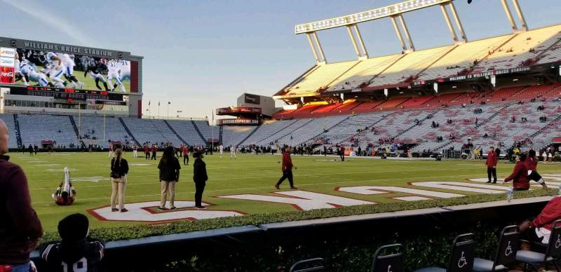 Seating view for Williams-Brice Stadium Section 11 Row 1 Seat 33