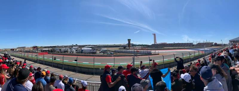 Seating view for Circuit of the Americas Section 6 Row 6 Seat 11