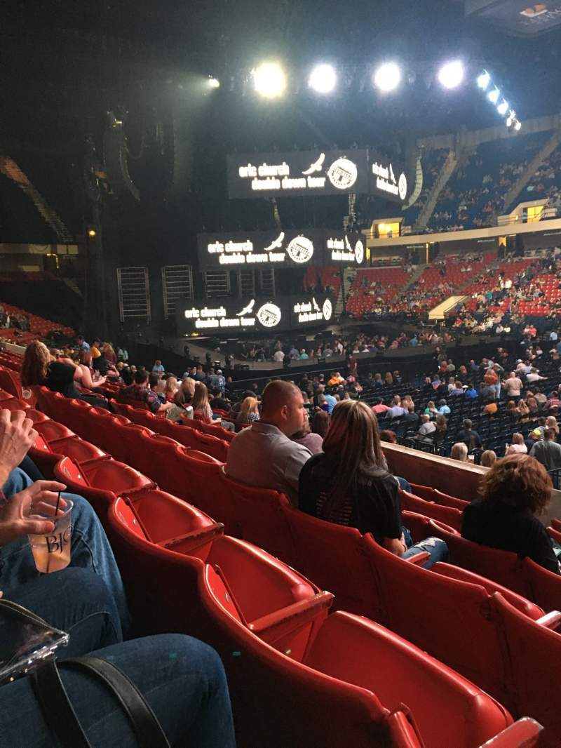 Seating view for BJCC Arena Section 10L Row O Seat 14