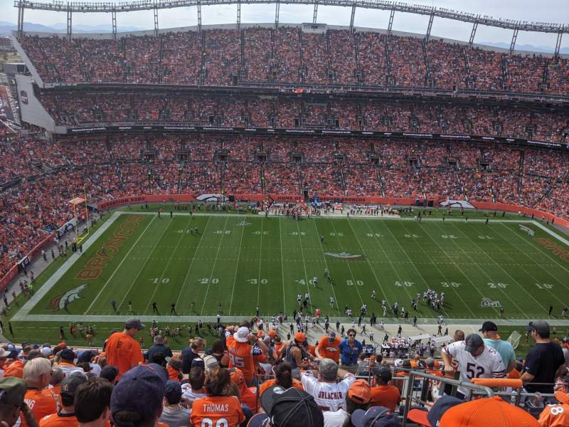 Seating view for Empower Field at Mile High Stadium Section 536 Row 18 Seat 4