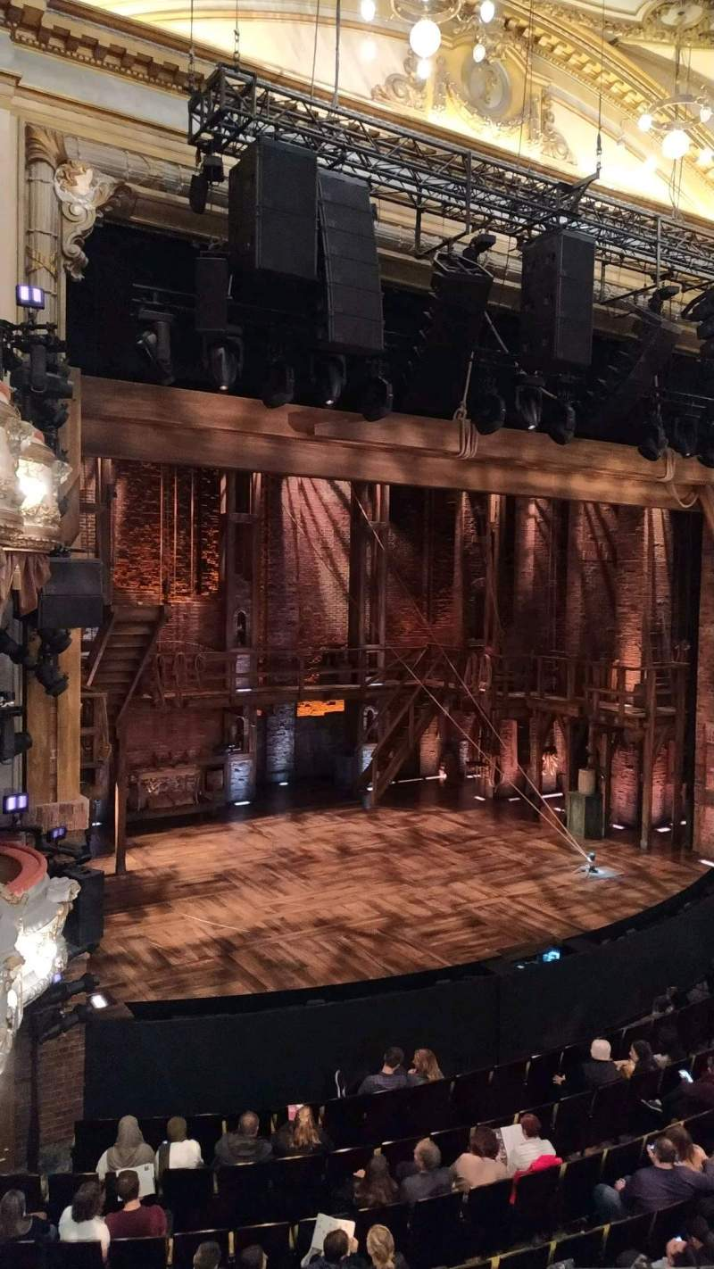 Seating view for Victoria Palace Theatre Section RC Slip Row A Seat 7