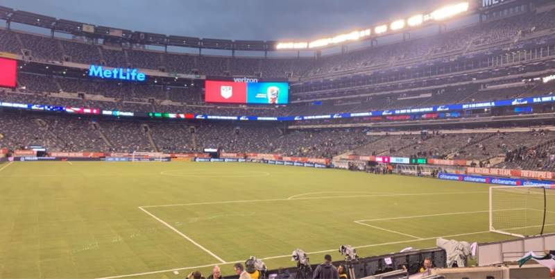 Seating view for MetLife Stadium Section 109 Row 1 Seat 12