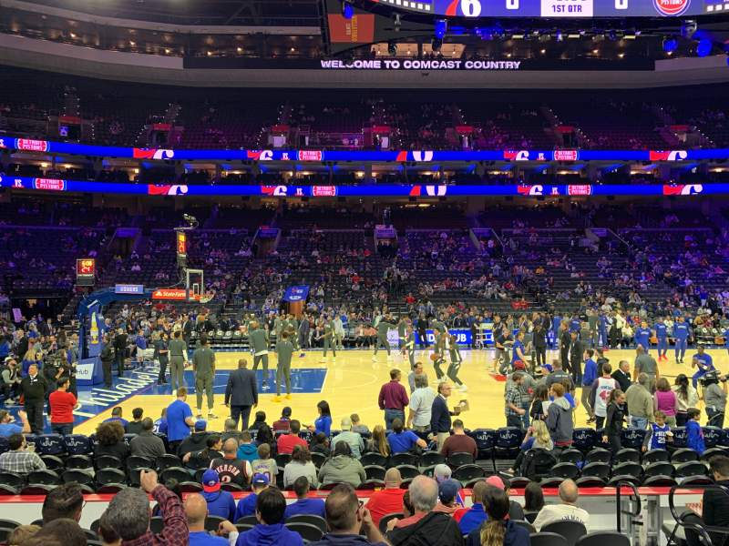 Seating view for Wells Fargo Center Section 112 Row 9 Seat 15