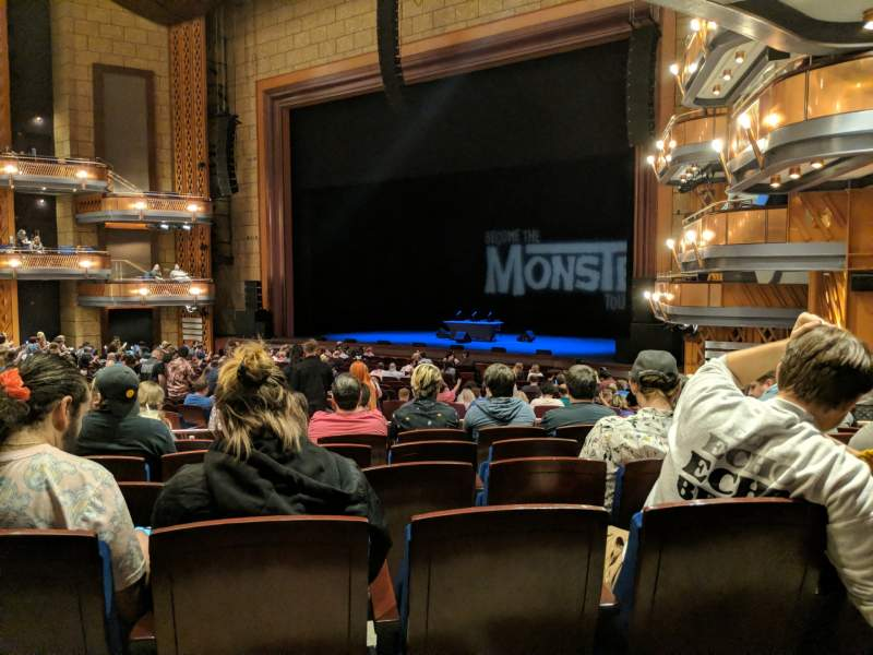 Seating view for Walt Disney Theatre - Dr. Phillips Center Section Upper Orchestra R Row W Seat 28