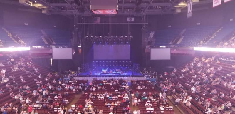 Seating view for Mohegan Sun Arena  Section 112 Row A Seat 7
