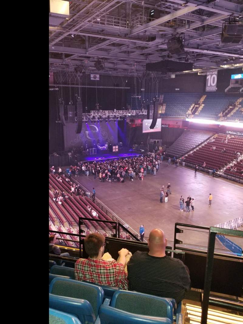 Seating view for Mohegan Sun Arena Section 115 Row J Seat 10