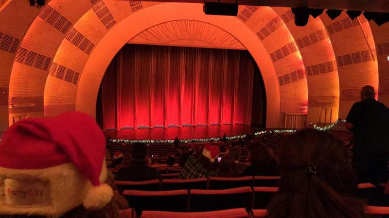 Seating view for Radio City Music Hall Section 1ST Mezzanine 6 Row H Seat 605