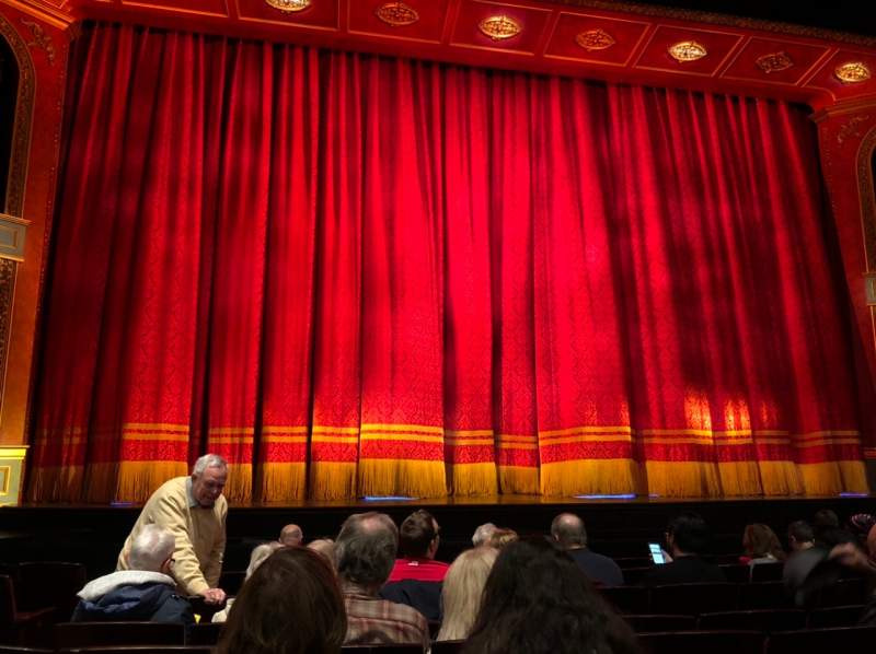 Seating view for Marquis Theatre Section Orchestra C Row H Seat 104