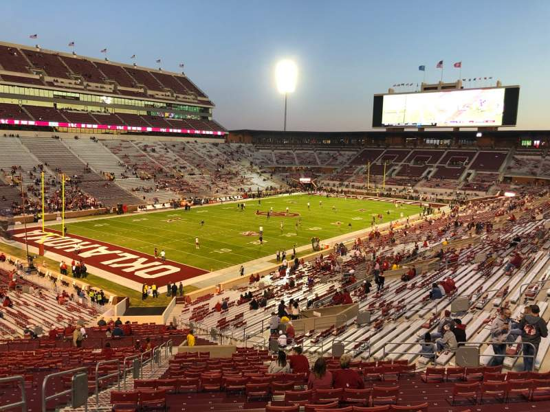 Seating view for Gaylord Memorial Stadium Section 12 Row 66 Seat 23