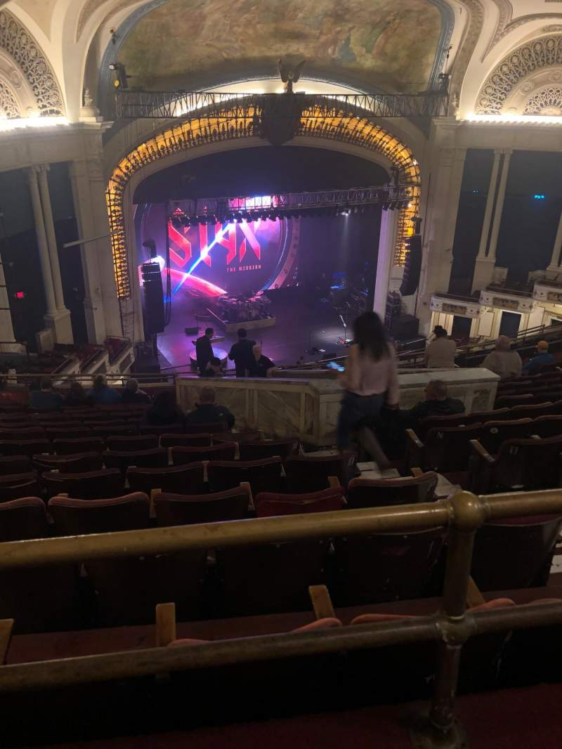 Seating view for Orpheum Theatre (Boston) Section Balcony L Row S Seat 5