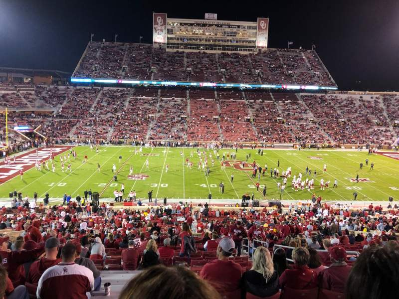 Seating view for Gaylord Memorial Stadium Section 32 Row 67 Seat 5