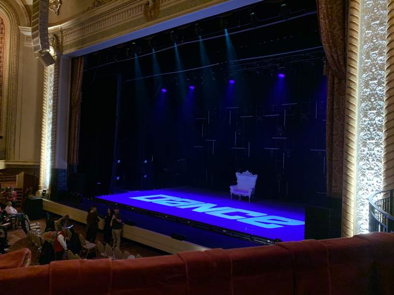 Seating view for Genesee Theatre Section LOGER Row A Seat 104